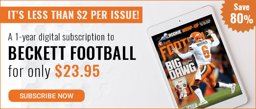 Beckett football Digital at $23.95