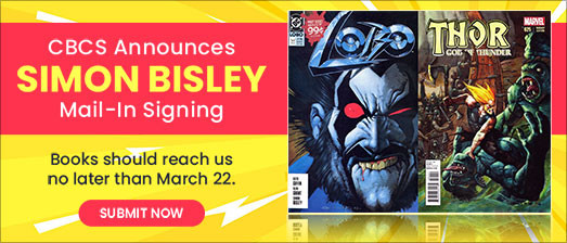 CBCS announces Mail-in Signing event with Simon Bisley