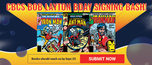 CBCS signing event with Bob Layton